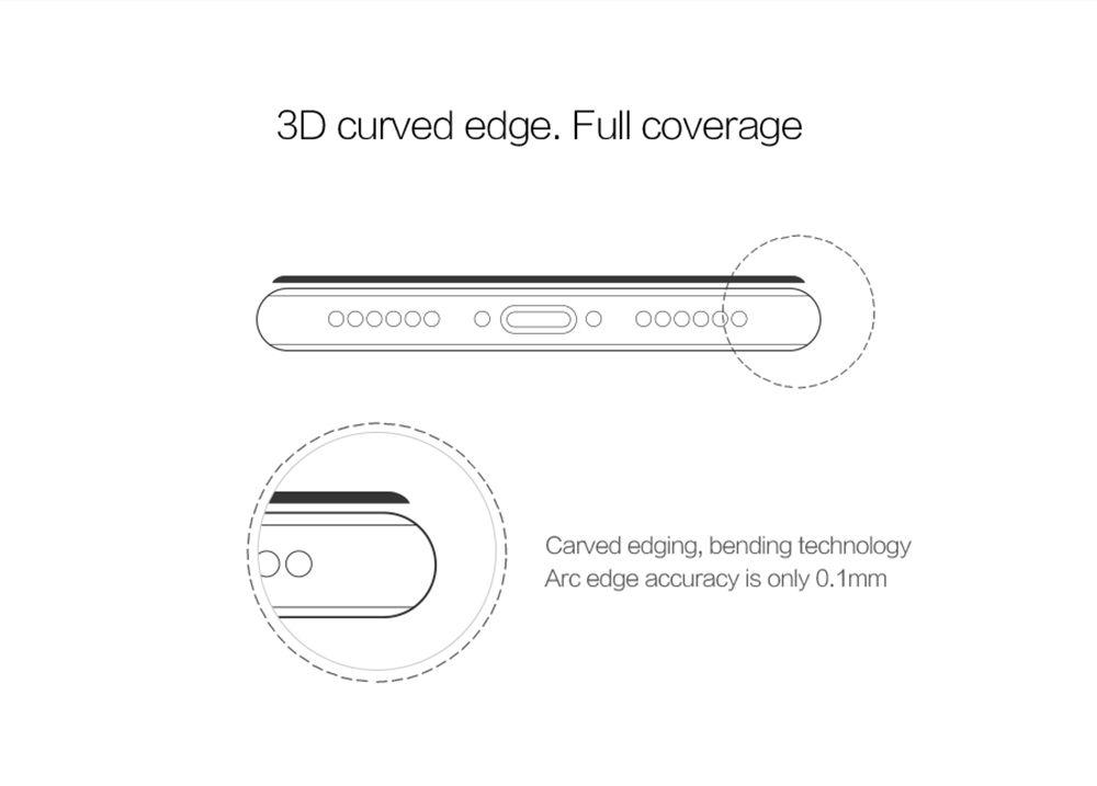 iPhone 7 aizsargstikls balts