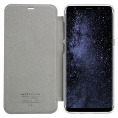 Samsung Galaxy S8 Plus maciņš balts Sparkle Leather