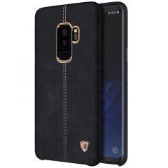 Samsung Galaxy S9 Plus vāciņš Englon Leather  Samsung Galaxy S9 Plus melns