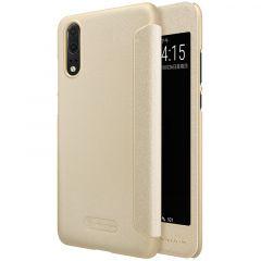 Huawei P20 telefona maciņš Sparkle Leather  Huawei P20 zeltīts