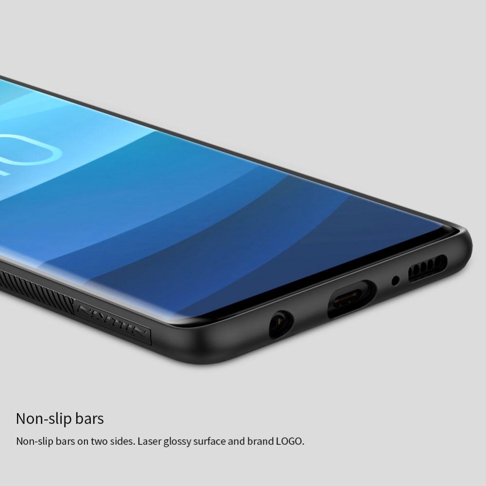 Samsung Galaxy S10 Plus telefona vāciņš Synthetic Fiber melns