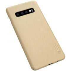 Samsung Galaxy S10 Plus telefona vāciņš Super Frosted Shield zeltīts