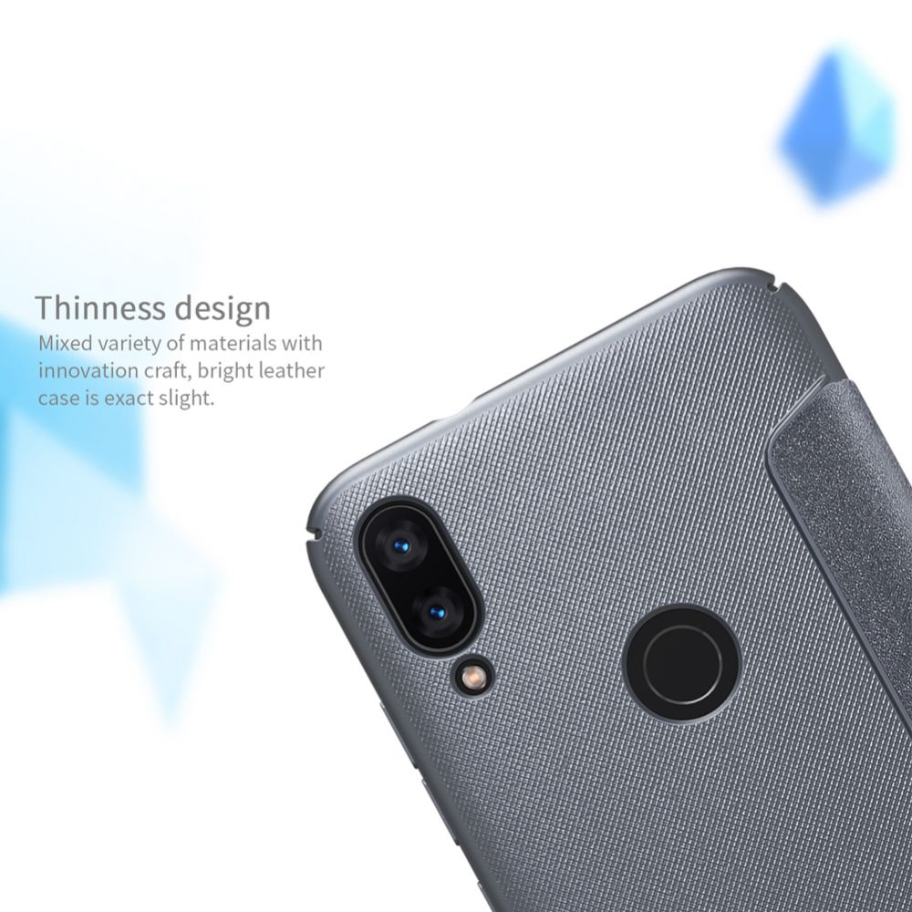 Xiaomi Mi Play telefona maciņš Sparkle Leather pelēks