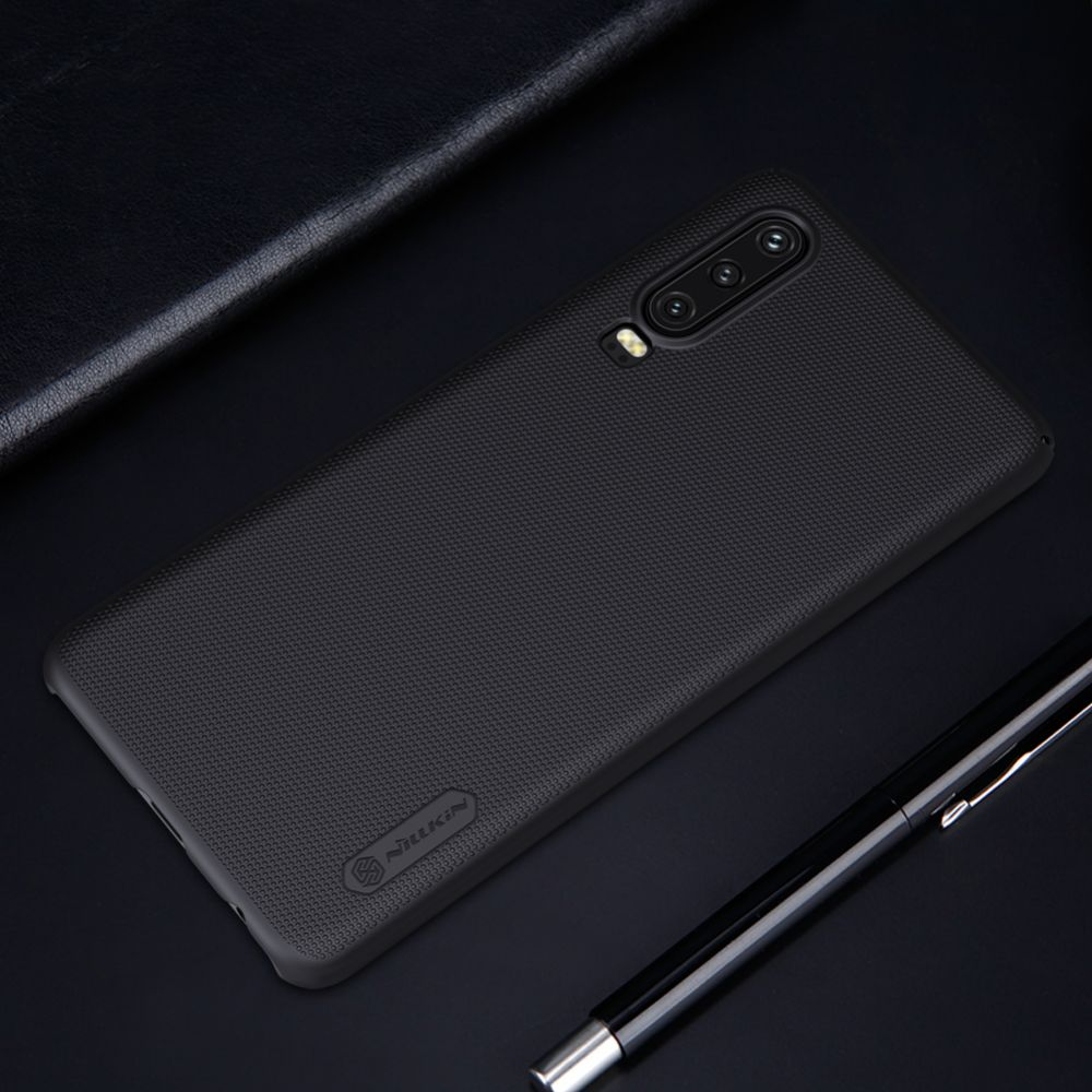 Huawei P30 telefona vāciņš Super Frosted Shield sarkans