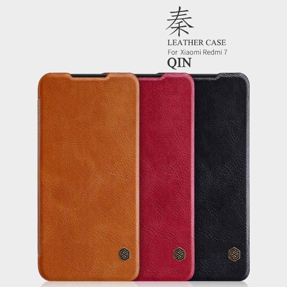 Xiaomi RedMi 7 telefoni ümbris Qin Leather pruun