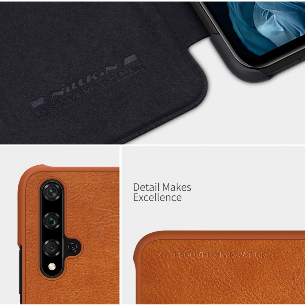 Honor 20 telefona maciņš Qin Leather melns