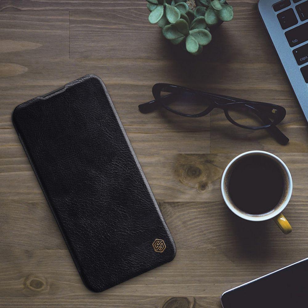Huawei P20 Lite (2019) telefona maciņš Qin Leather brūns