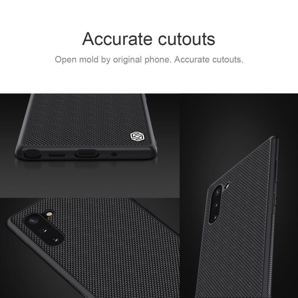 Samsung Galaxy Note 10 telefona vāciņš Textured melns