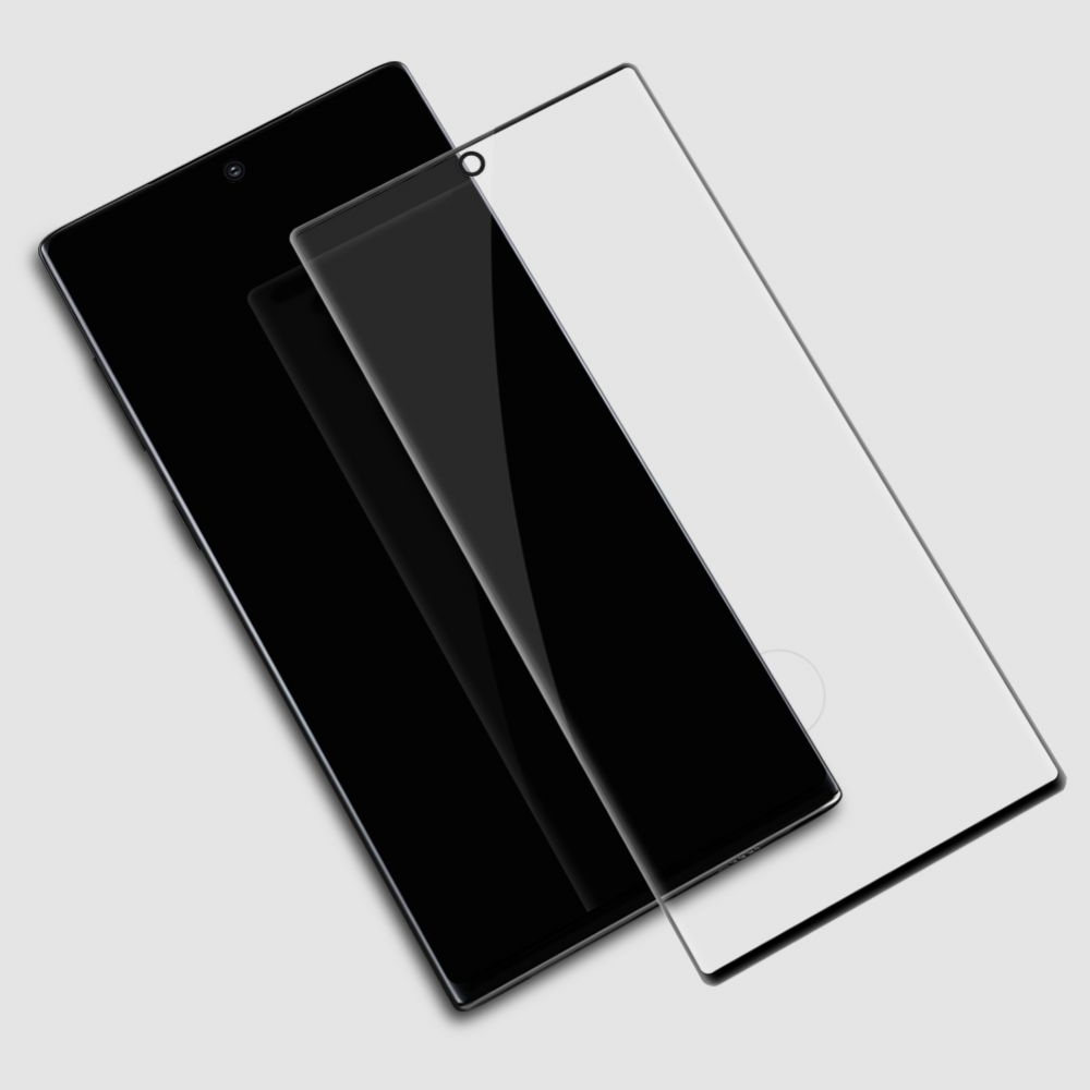 Samsung Galaxy Note 10 Plus aizsargstikls melns