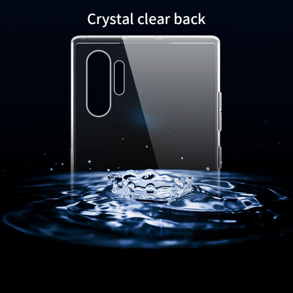 Samsung Galaxy Note 10 Plus telefona maciņš caurspīdīgs pelēks