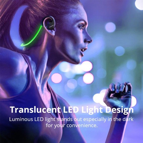 Austiņas Bluetooth Tronsmart Gleam bezvadu austiņas  melns