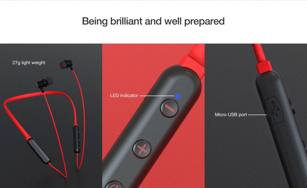 Austiņas Bluetooth Nillkin Soulmate Red Neckband bezvadu austiņas sarkans