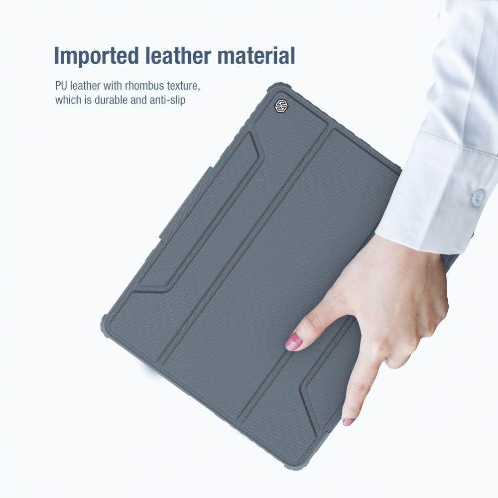 Apple iPad Pro 12.9 (2020) maciņš pelēks Nillkin Bumper Leather