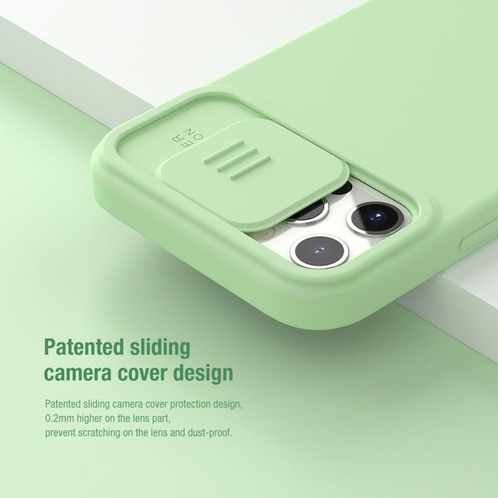 Apple iPhone 12 Pro vāciņš melns Nillkin CamShield Silky Magnetic Silicon