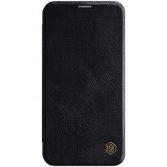 Apple iPhone 12 Pro Max maciņš melns Qin Leather