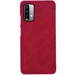 Xiaomi RedMi 9T maciņš sarkans Nillkin Qin Leather