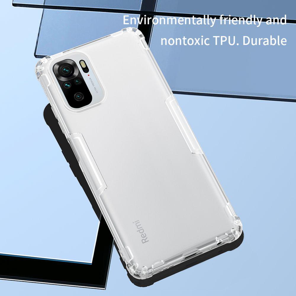 Xiaomi RedMi Note 10 4G vāciņš caurspīdīgs pelēks Nillkin TPU