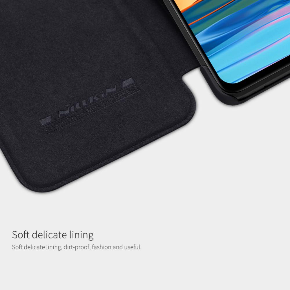 Xiaomi RedMi Note 10 Pro maciņš brūns Nillkin Qin Leather
