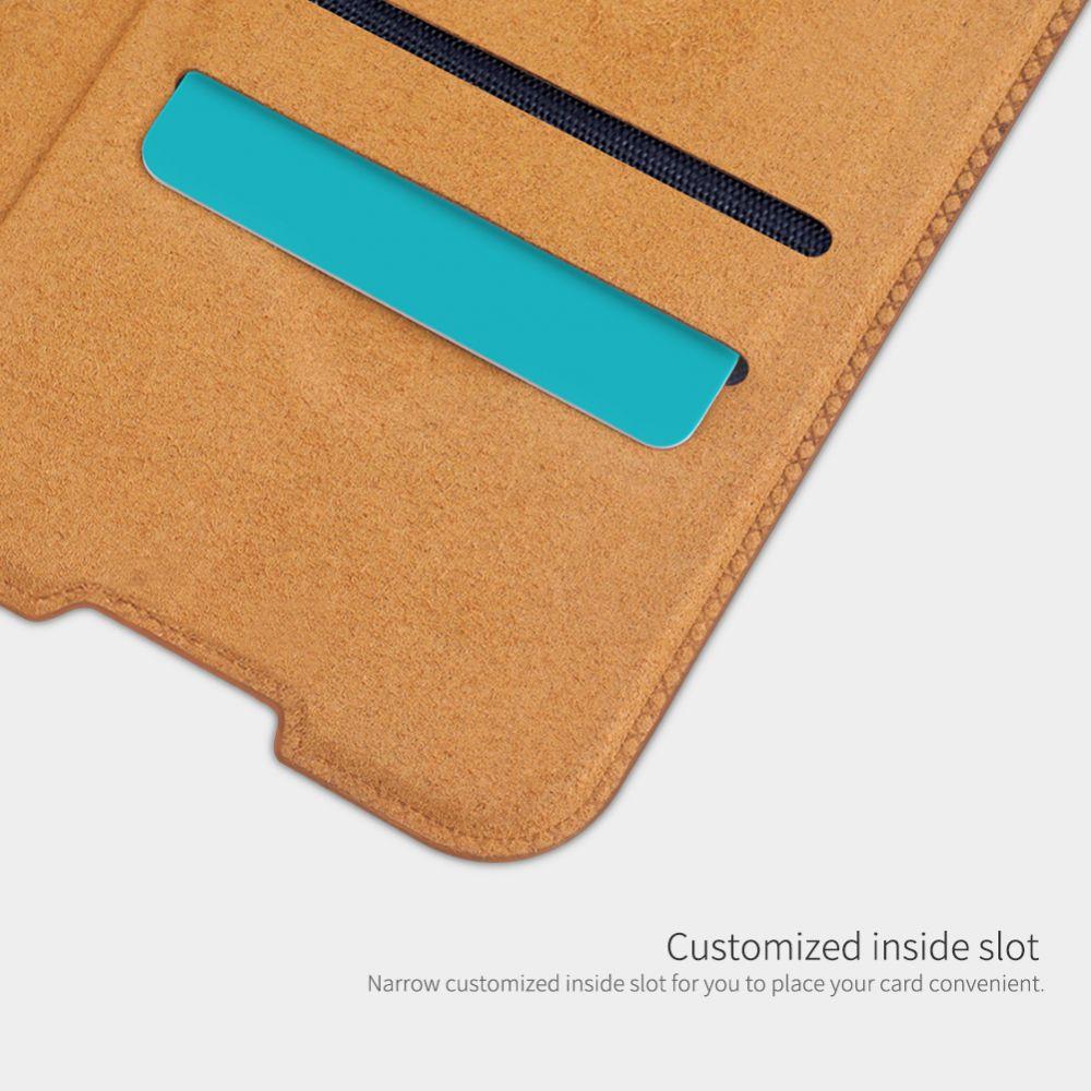 Xiaomi RedMi Note 10 Pro Max maciņš brūns Nillkin Qin Leather