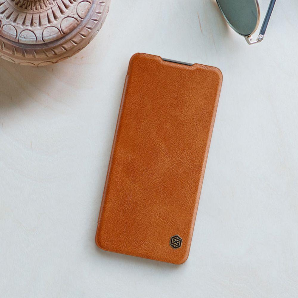 Xiaomi RedMi Note 10 Pro Max maciņš sarkans Nillkin Qin Leather