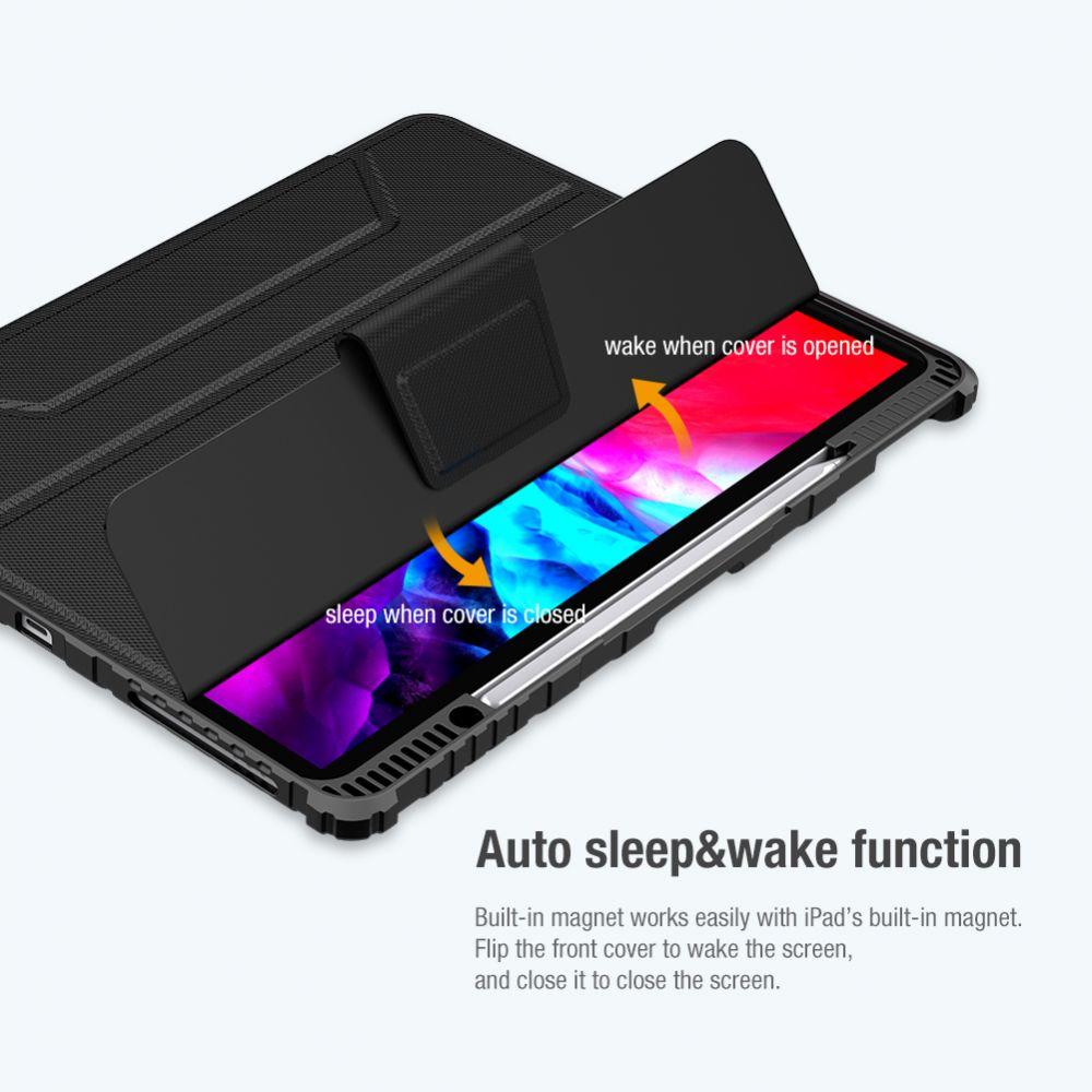 Apple iPad Pro 12.9 (2021) maciņš melns Nillkin Bumper Leather