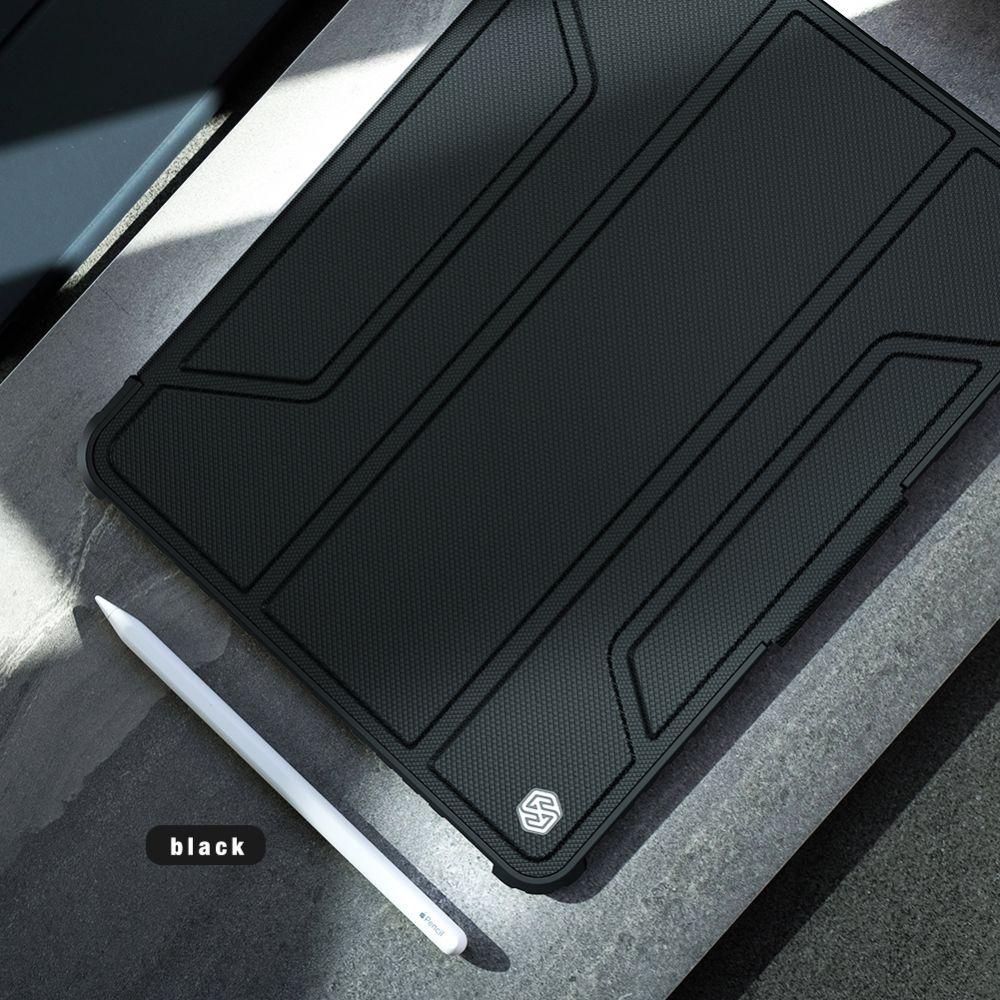 Apple iPad Pro 12.9 (2021) maciņš pelēks Nillkin Bumper Leather