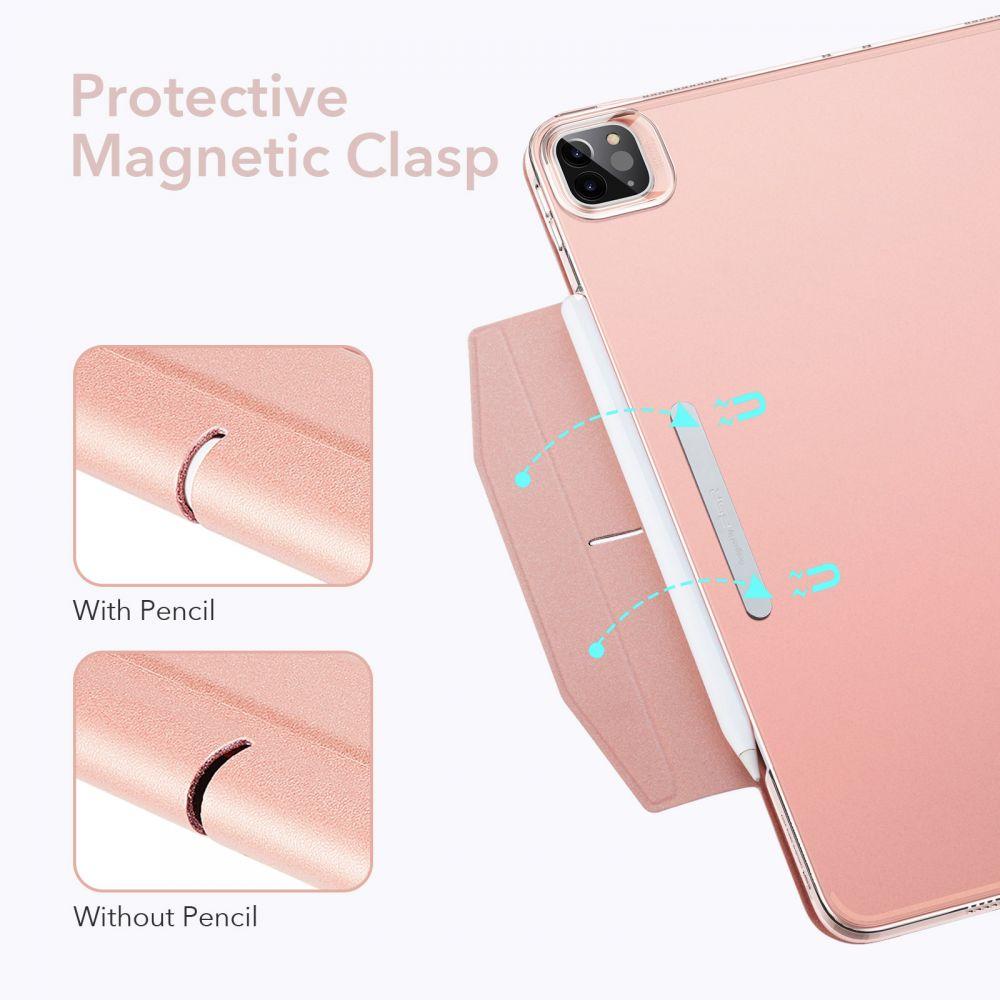 Apple iPad Pro 12.9 (2021) maciņš rozā zelta ESR Ascend Trifold