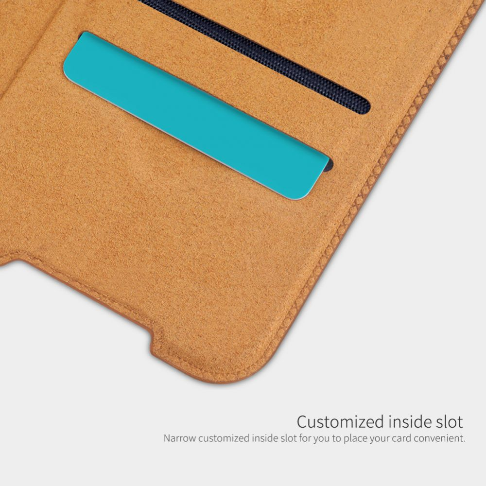 Xiaomi RedMi Note 10 5G maciņš brūns Nillkin Qin Leather