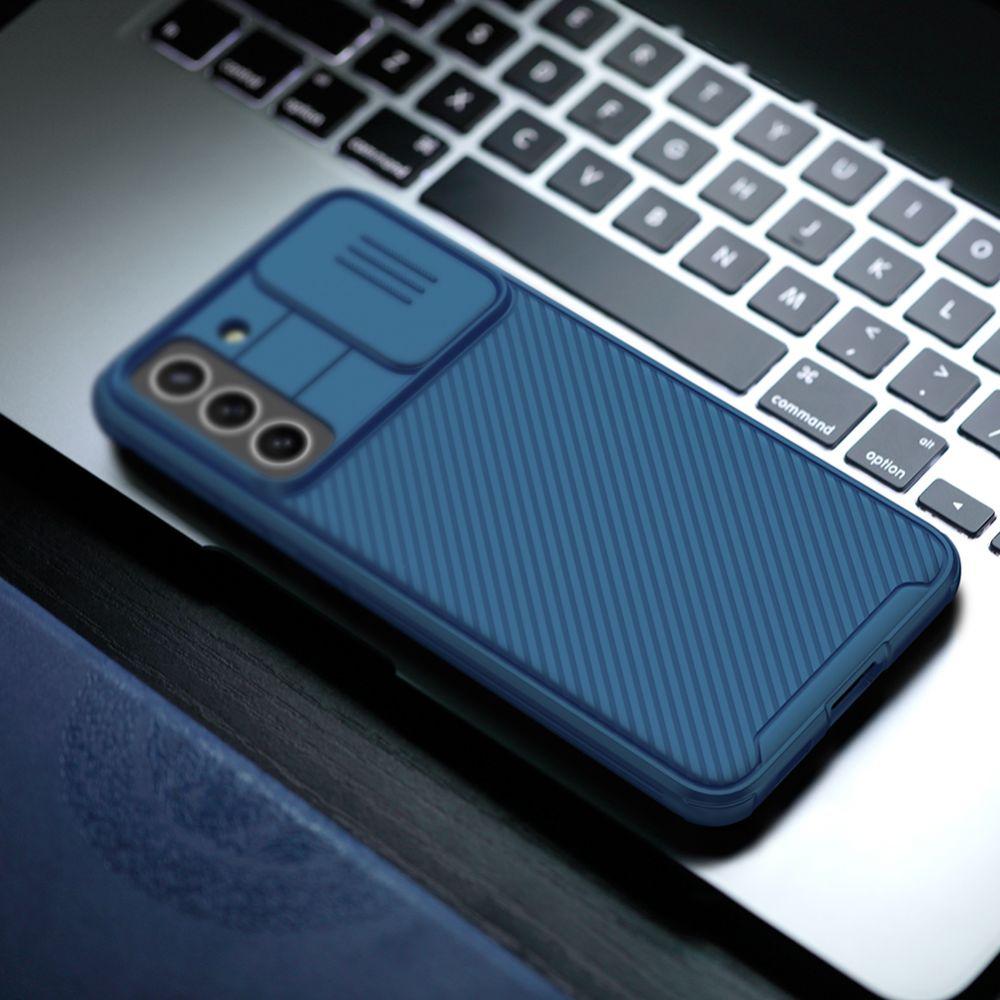 Samsung Galaxy S21 FE vāciņš zils Nillkin CamShield Pro