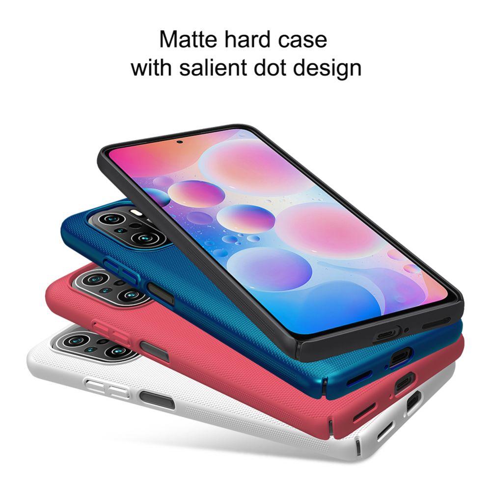 Xiaomi Poco F3 vāciņš zils Nillkin Super Frosted Shield