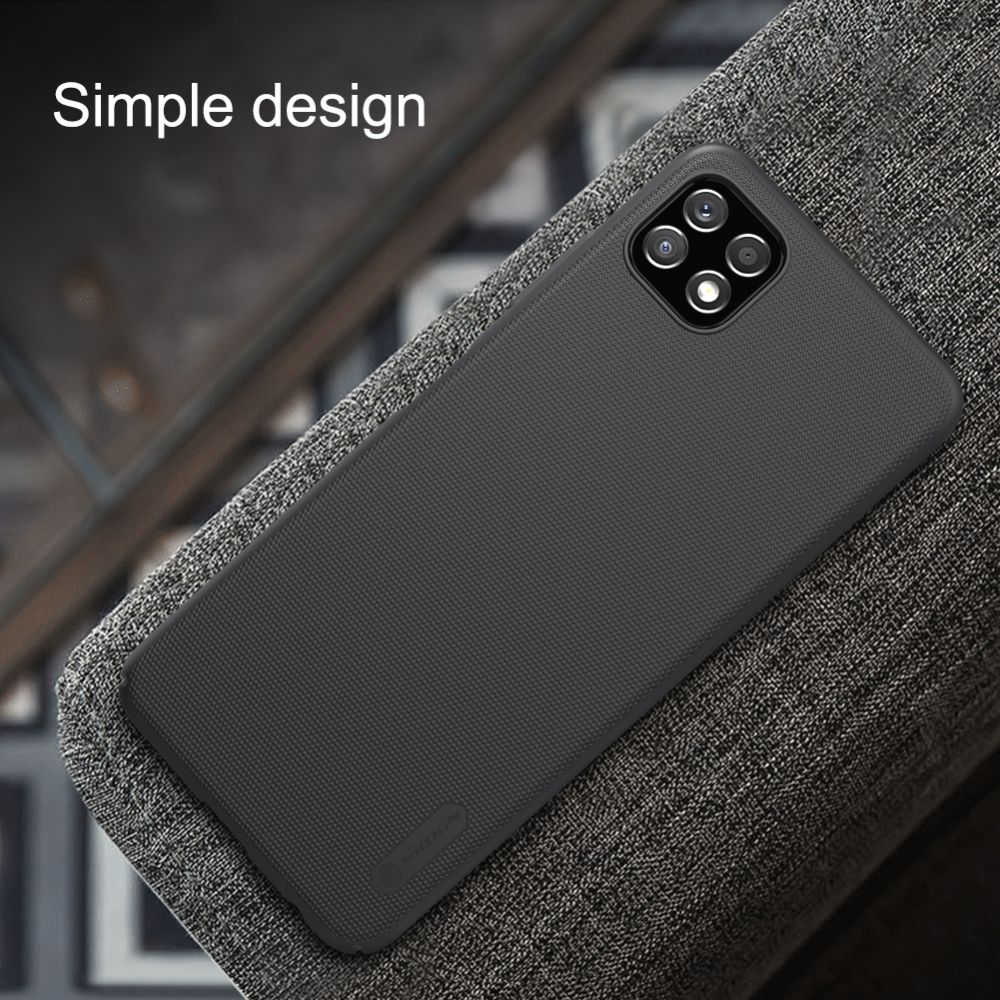 Samsung Galaxy A22 vāciņš melns Nillkin Super Frosted Shield  5G