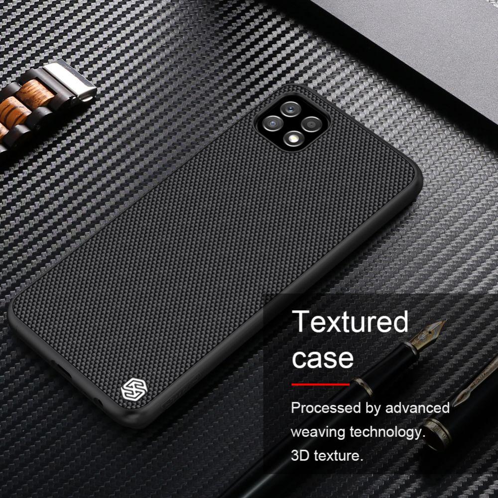 Samsung Galaxy A22 vāciņš melns Nillkin Textured  5G
