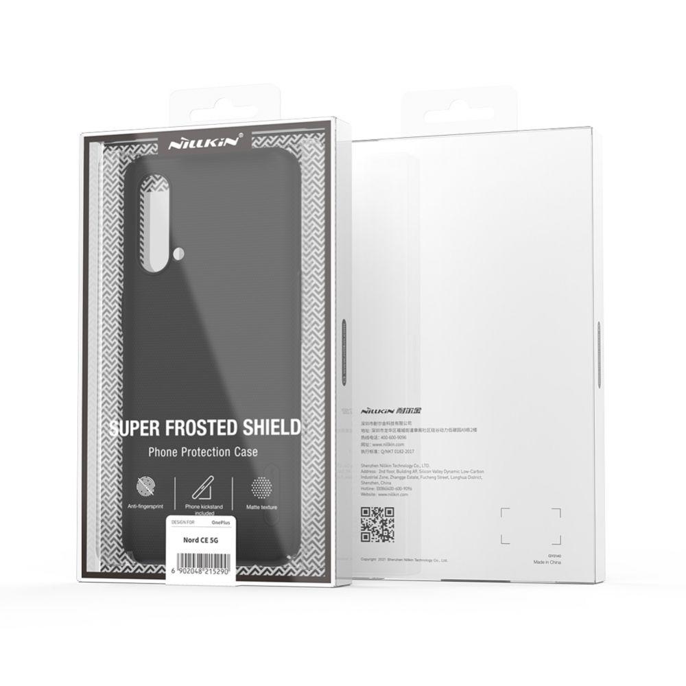 OnePlus Nord CE 5G vāciņš sarkans Nillkin Super Frosted Shield