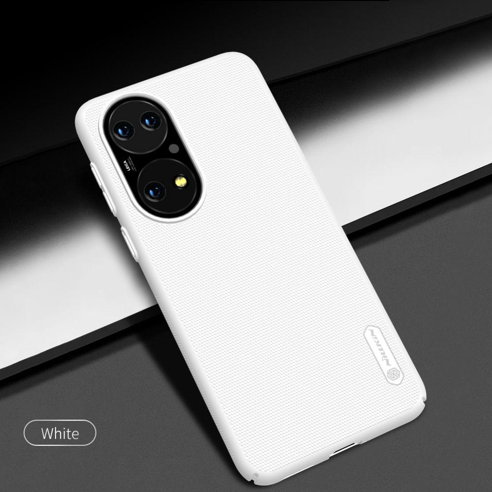 Huawei P50 vāciņš balts Nillkin Super Frosted Shield