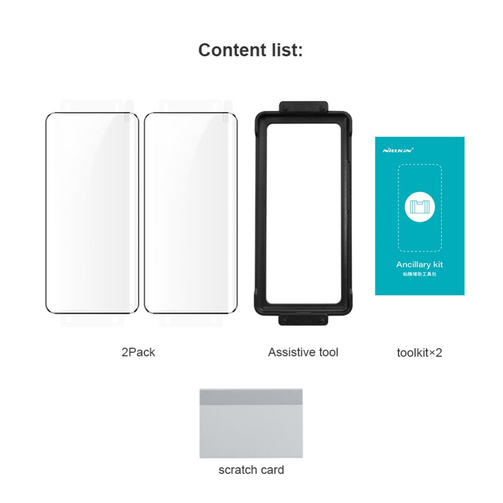 Huawei P50 Pro aizsargstikls  Nillkin Impact Resistant Curved Film (2pack)