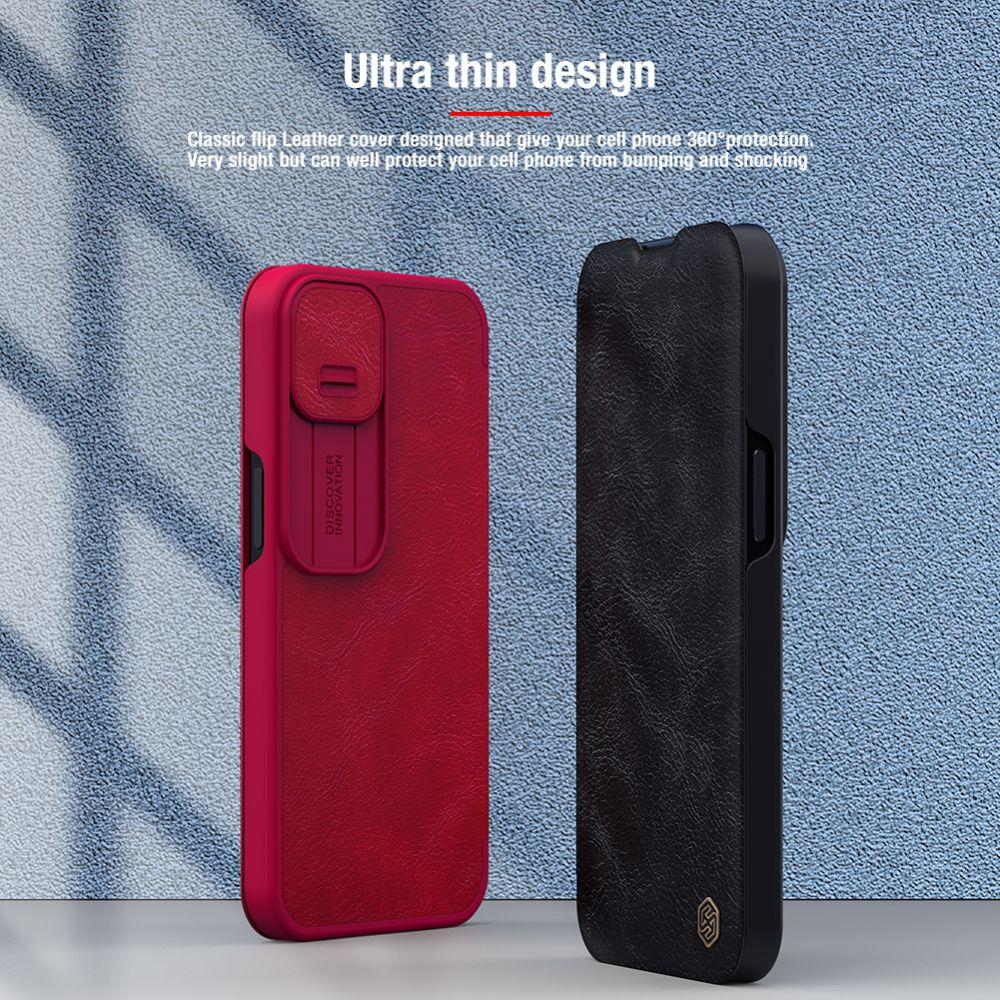 Apple iPhone 13 Pro maciņš brūns Nillkin Qin Leather