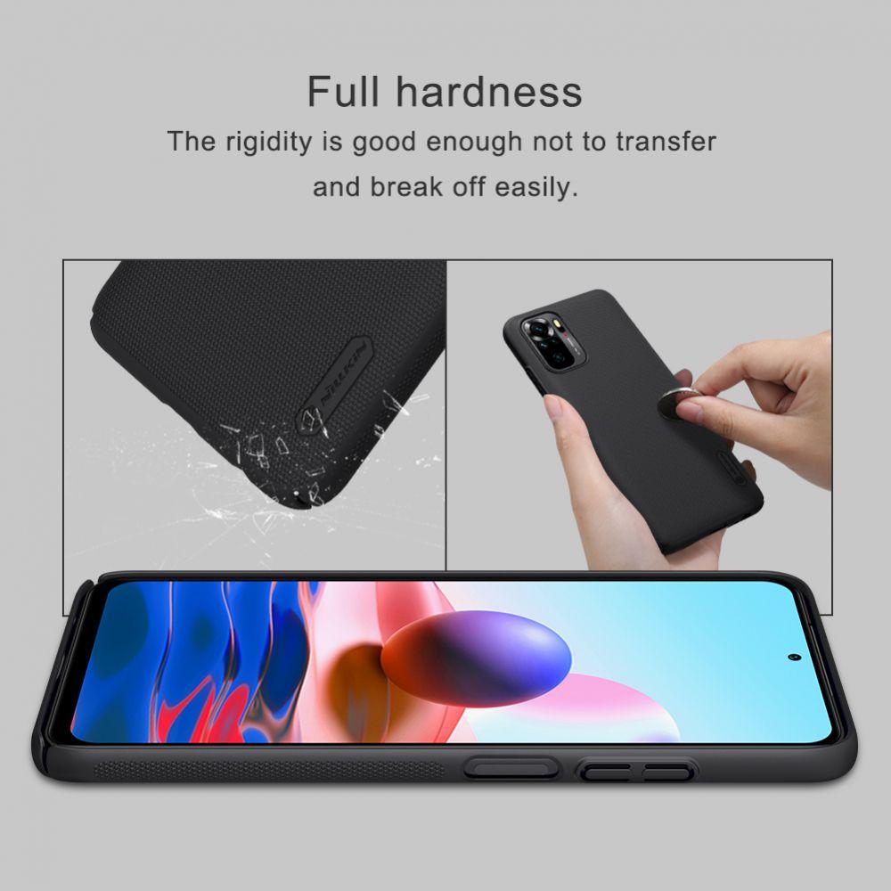 Xiaomi RedMi Note 10S vāciņš zils Nillkin Super Frosted Shield