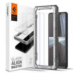 Sony Xperia 10 III aizsargstikls SPIGEN ALM GLAS.TR SONY Xperia 10 III (2-pack)