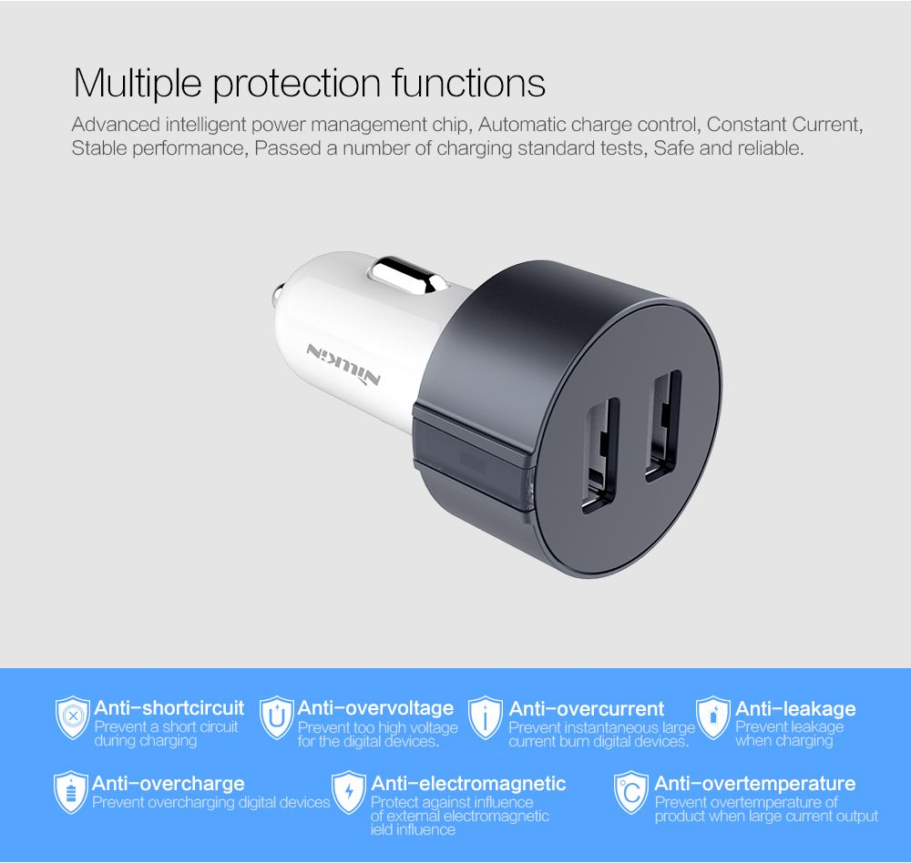 Accessories Car Charger Nillkin Vigor car charger