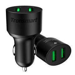 Aksesuāri Automašīnas lādētāji  TRONSMART CC2TF Black Qualcomm Quick Charge 3.0 Car Charger