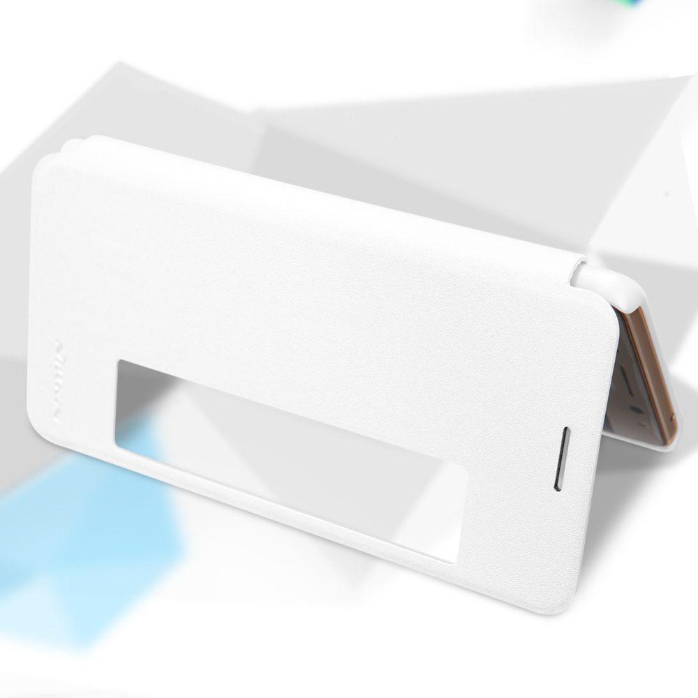 Huawei Mate 9 Pro maciņš balts Sparkle Leather
