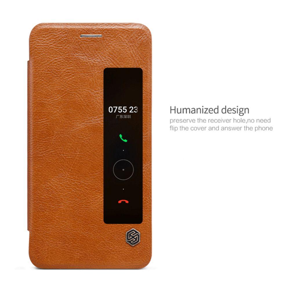 Huawei Mate 9 Pro чехол белый Qin Leather