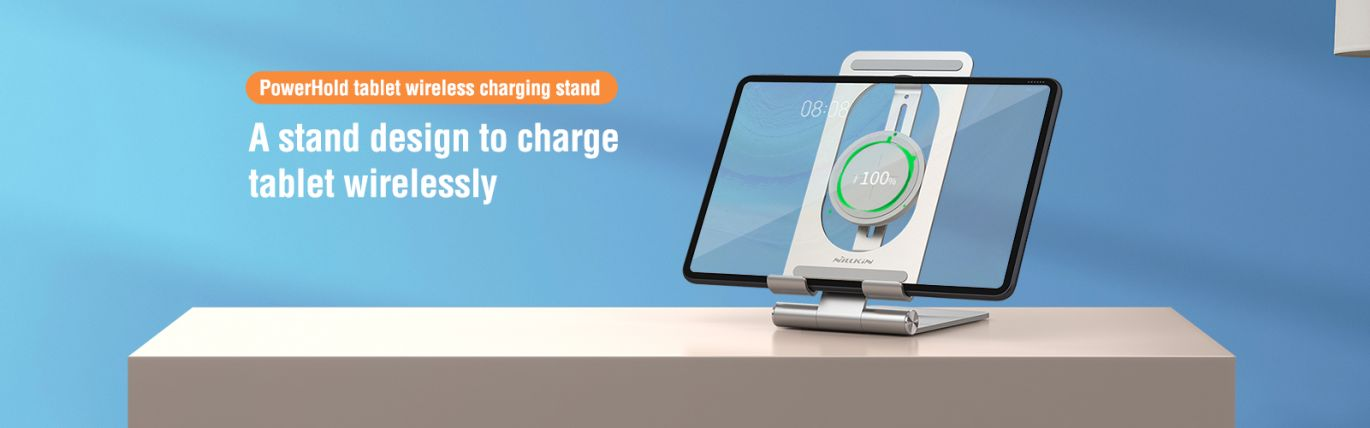 PowerHold Tablet wireless charging stand